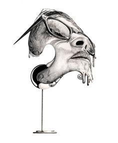 #grey #black #inspiration #design #art #Illustration #creative #face