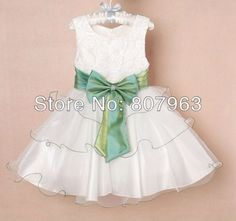 Aliexpress.com : Buy hot girls/flower girl dress nice dress for kids party/new year color white size for dress children 2 8 years free shipping from Reliable baby party dress suppliers on Sunny baby store