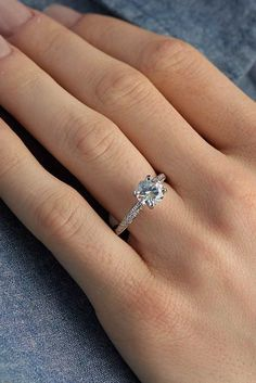 Simple Engagement Rings For Girls Who Love Classic Style ❤ See more: http://www.weddingforward.com/simple-engagement-rings/ #weddingforward #bride #bridal #wedding