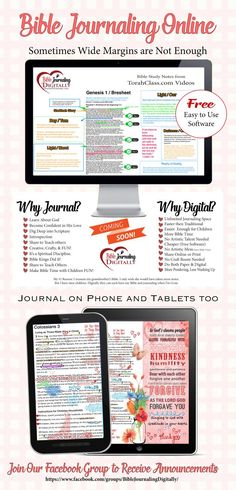BIble Journaling Digitally is journaling on your computer. I have Bible journaled three ways explained  in this post