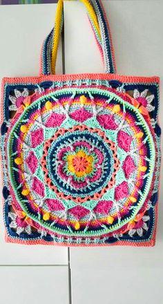 New Trend Crochet Bag Pattern Image ideas - Page 2 of 47 - crochet patterns, crochet patterns free, crochet patterns for beginners, knitting patterns, free crochet patterns Crochet Border Patterns, Wool Applique Patterns, Crochet Mandala Pattern, Tapestry Crochet, Bag Sewing Pattern, Bag Pattern Free, Bag Patterns To Sew, Pattern Ideas, Crochet Handbags
