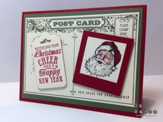 Stampin Up!, Just Add Ink 194, Best of Christmas, Christmas Messages, Post Card, Squares Collection Framelits