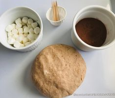 Cocoa Play Dough- We had hot cocoa last night!  So certainly we made  cocoa play dough today!  Use homemade play dough recipe .