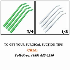 Purchase #suction #tips online at affordable price.  Suction Tips 1/4 (Pack of 25) - $2.25 Suction Tips 1/8 (Pack of 25) - $2.25  Shop from here : http://r2medical.com/collections/suction-tips