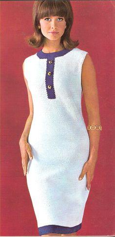 DRESS  Sleeveless Crochet Dress van suerock op Etsy, $4.25