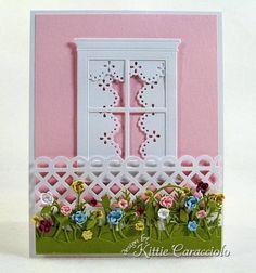 Lattice Fence and Flower Garden by kittie747 - Cards and Paper Crafts at Splitcoaststampers