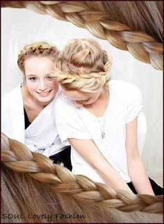 French Braids are Trendy.    Valentino Spring-Summer 2012.