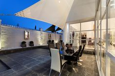 The evening dining area...great for entertaining.