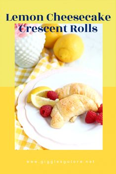 Warm flaky lemon cheesecake crescent rolls are filled with a delicious citrus cream filling that will make your tastebuds tingle! Perfect for springtime celebrations and Easter brunch. Healthy Desserts, Fun Desserts, Healthy Recipes, Easy Recipes, Crescent Roll Cheesecake, Snack Recipes, Snacks, Lemon Cheesecake, Crescent Rolls