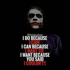 """1,061 Likes, 2 Comments - Joker Quotes (@thejokersquote) on Instagram: """" Must Follow @TheJokersQuote @TheJokerSayings For Daily Motivation And Inspirational Quotes…"""""""