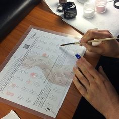 To receive a practice sheet, Please contact Ruben at Photo by and one of her students at TATC! Home Beauty Salon, Tammy Taylor Nails, School Nails, Get Nails, Nail Technician, Academia, Instagram Accounts, Pedicure, Salons