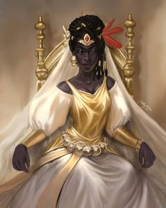 Obsidian Queen Art Print by Hillary D Wilson Art - X-Small Black Love Art, Black Girl Art, Art Girl, Black Girls, Black Characters, Fantasy Characters, Female Characters, Fantasy Queen, Fantasy Girl