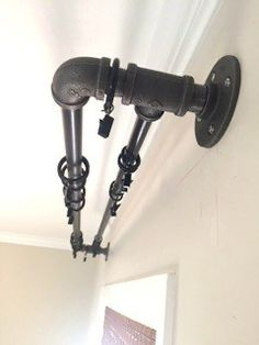 Make Your Own Wooden Ball Curtain Rod Set With Brackets . 5 Fabulous DIY Curtain Rods Lovely Etc . Decor: Classy Curtain Rods At Walmart To Decorate Your . Industrial Curtain Rod, Industrial Pipe, Industrial House, Industrial Bedroom, Industrial Closet, Industrial Furniture, Industrial Farmhouse, Industrial Restaurant, Industrial Apartment