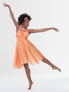 NEW! 2017 Collection Contemporary & Lyrical Costumes: Spandex leotard with iridescent chiffon overlay has attached, adjustable nude shoulder straps and a fully functioning, invisible side seam zipper. Attached iridescent chiffon sashes cascade over the shoulders and down the back. Attached skirt is layers of chiffon.  Includes headpiece, hanger and garment bag.