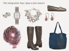 A Four by Four Capsule Wardrobe in Olive, Lt Grey, Pink and Rose | The Vivienne Files Swap in olive bag