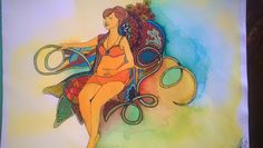 Sabine, fineliner en ecoline Pocahontas, Disney Characters, Fictional Characters, Disney Princess, Art, Shop Signs, Art Background, Kunst, Performing Arts