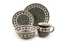 Blue Rose Polish Pottery: Maia 16 Piece Dinner Set
