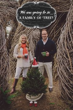 Christmas Pregnancy Announcement by Alyssa Shrock Photography