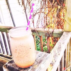 But I had to post a picture of my beautiful breakfast. A delicious, simple chocolate  protein shake!  Made with ☝️ scoop chocolate whey protein, 1⃣ TBSP unsweetened cocoa powder ❤️, a handful of ice ❄️, and ☝️ cup of almond milk . I also had a whole grain bagel topped with 1⃣ TBSP natural peanut butter.