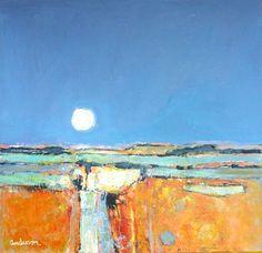 Shetland Moonrise by Charles Anderson DA RSW Hon FRIAS