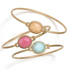 Three Of A Kind Bracelets. Classic trio with accentuated natural stone colours. elizabeth.marra-chiodo@rogers.com 416-669-9217