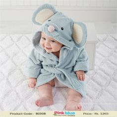 Cute Grey Infant Hooded Towels - Baby Bath Towel Robe in Mouse Pattern 31a7a7533
