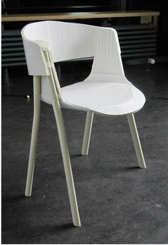 GAP CHAIR / final design model made of foamboard showing clear lines and formal direction for the prototype
