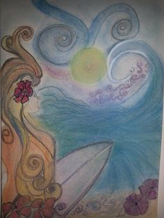 Dream surf - pastels Pastels, Painting & Drawing, Find Art, Photo Art, Surfing, Drawings, Surf, Sketches, Drawing