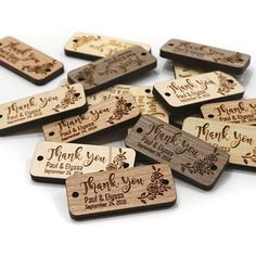 Custom Decorative Floral Thank You Wood Tag x inch Wedding Favour Wood Tag Handmade Event T Laser Cutter Ideas, Laser Cutter Projects, Gravure Laser, Wood Tags, Favor Tags, Laser Engraving, Laser Cutting, Wedding Favors, Diy And Crafts