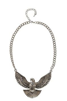 Jules Eagle Necklace at boohoo.com