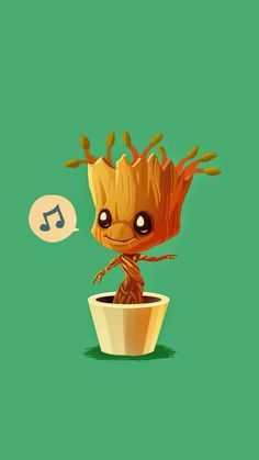 Baby Groot And Rocket Wallpaper Baby groot humming guardians