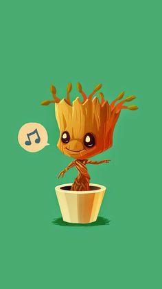 Baby Groot And Rocket Wallpaper Baby groot humming guardians