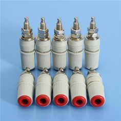 Excellway® BS01 10Pcs M5 4mm Female Banana Socket Copper Binding Post Connectors