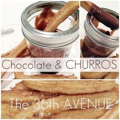... hot chocolate sauce to dip your homemade churros in... Yum! #churros #