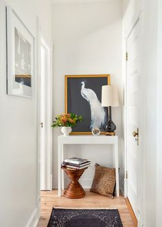 Need a neutral paint color for your entryway? Try this best-selling warm white paint color, Whipped by Clare! Small Space Living, Small Spaces, Entryway Console Table, Best White Paint, Neutral Paint Colors, Interior Decorating, Interior Design, House Design, Furniture