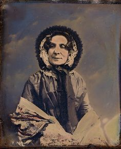 English Matriarch, Tinted 1/6th-Plate Daguerreotype, Circa 1849 by lisby1, via Flickr