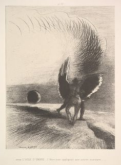Odilon Redon (French, Bordeaux 1840–1916 Paris) In the shadow of the wing, the…