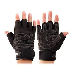 2017 Wrist Support Half-Finger Gloves Weight Lifting Training Fitness Workout Wrist Wrap Exercise Gloves Cool Dry Black M Cycling Workout, Workout Gear, Gym Workouts, Gym Gloves, Workout Gloves, Weight Lifting Gloves, Fingers Design, Workout Aesthetic, Fitness Aesthetic
