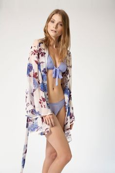 "Beautiful Bottoms - ""Bold Botanics Short Night Robe"""