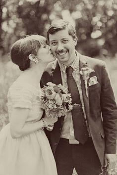 Adam & CLaire. Bride in BHLDN #BHLDNbride