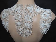 Risultati immagini per encaje olgemi Freeform Crochet, Thread Crochet, Irish Crochet, Vintage Crochet, Vintage Lace, Crochet Lace Collar, Bruges Lace, Romanian Lace, Point Lace