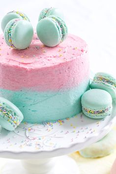 Vanilla Ombre Cake. Great idea for a baby shower!