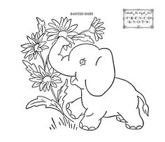 Baby Quilt Animals Embroidery Patterns - French Knots