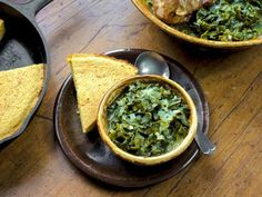Get Collard Greens with Smoked Turkey and Whole Grain Buttermilk Cornbread Recipe from Food Network