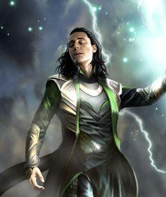 Tom Hiddleston as Loki. By eleathyra.tumblr.com