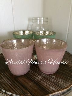 ラスティクピンク 色の器 ミニ装花やキャンドル入れに。
