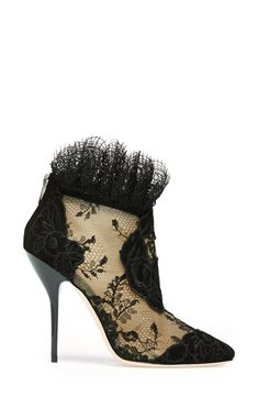 Lacy designer booties. So luxe for fall.