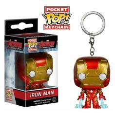 Avengers Iron Man Pocket Pop! Vinyl Figure Key Chain - Funko - Avengers - Key Chains at Entertainment Earth