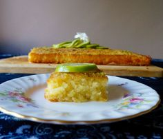 Lime and Coconut Drizzle Cake | KitchenSpells