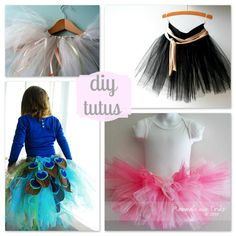 All kinds of tutus tutorials! They are in girl size but you can make them in your own size :)